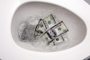 are you flushing money down the toilet