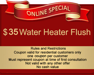 35 water heater flush